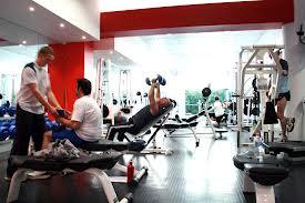 Gym scene workout